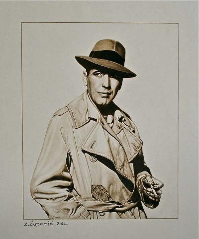 Humphrey Bogart II 17x14 (2014) Sold