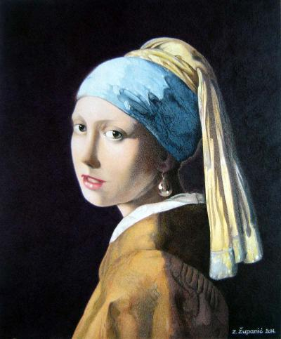 Girl with a Pearl Earring JV 26x22 (2014) Available